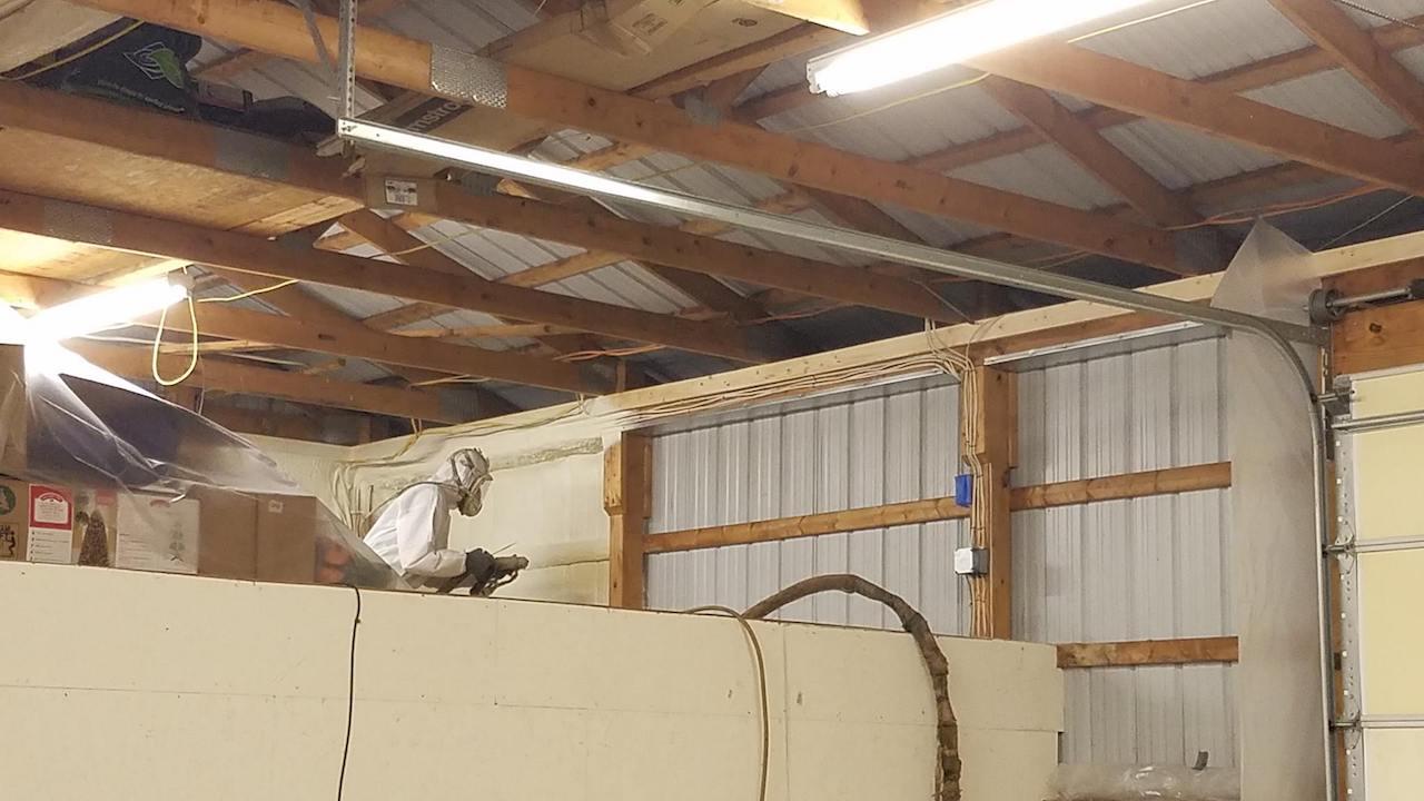 Installing Pole Barn Insulation Michigan